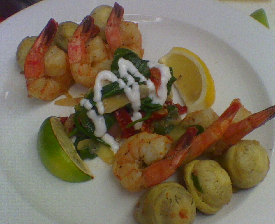 Tiger Prawns With Lime