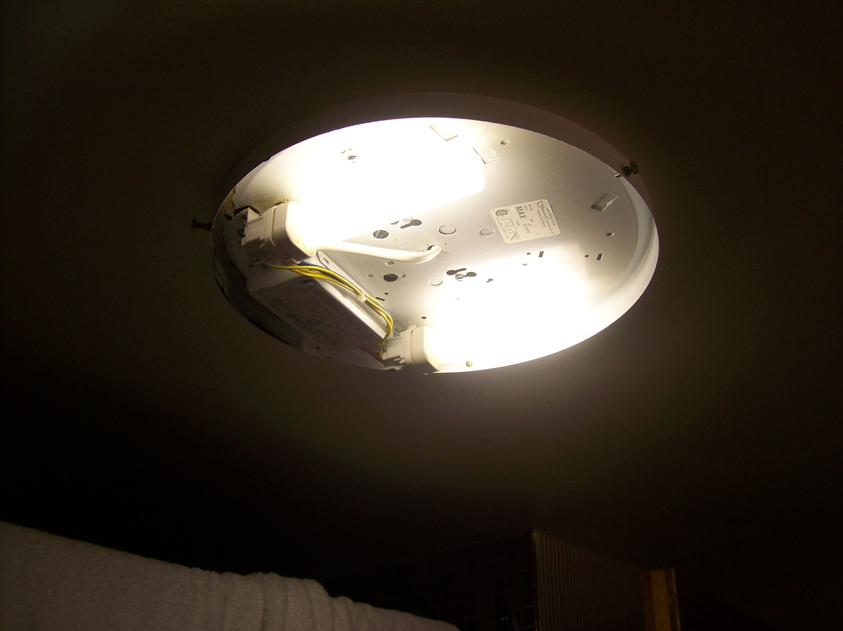 Where The Light Fixture Fell Off Of Side View