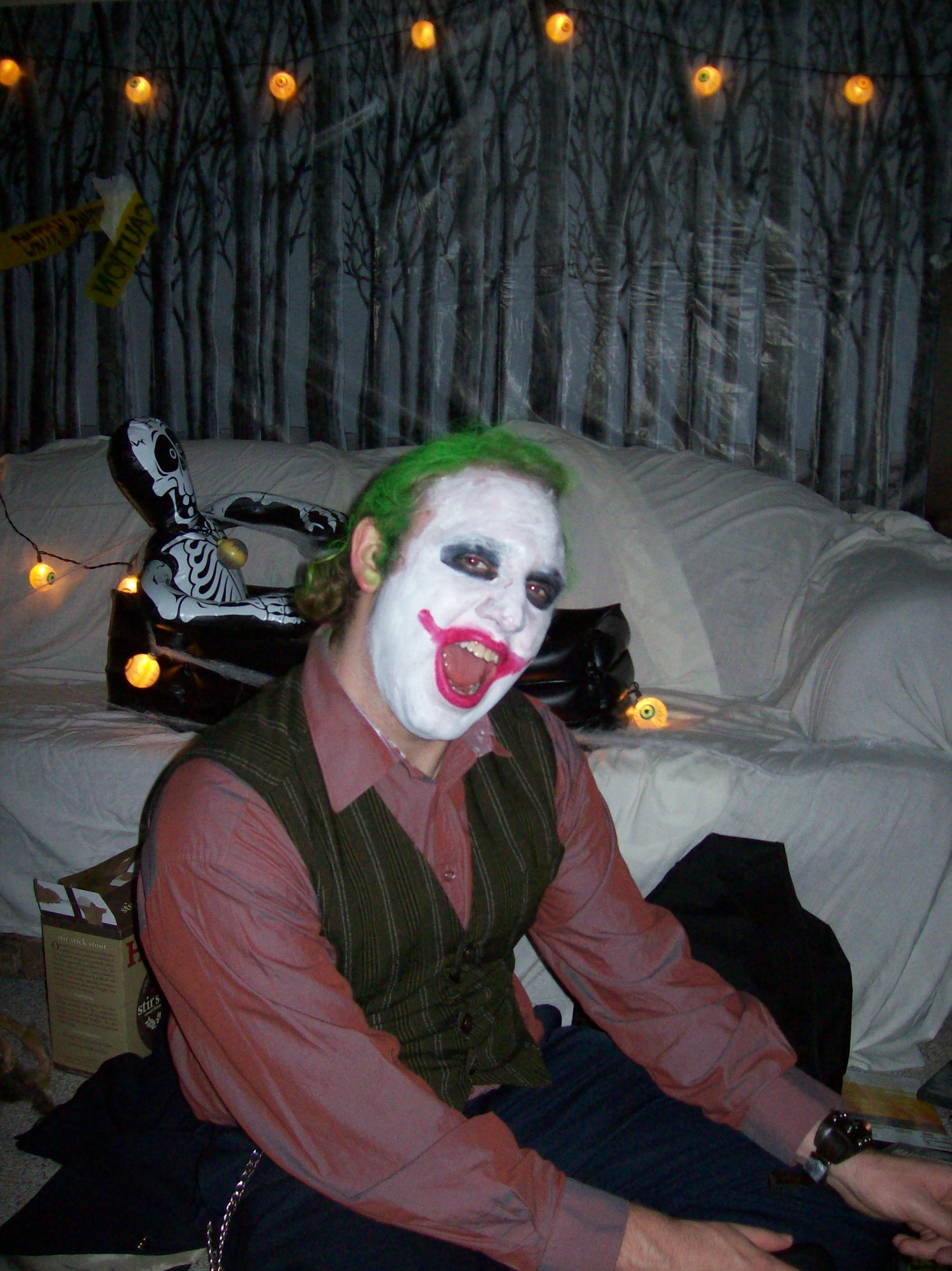 Devin Laughing It Up As The Joker
