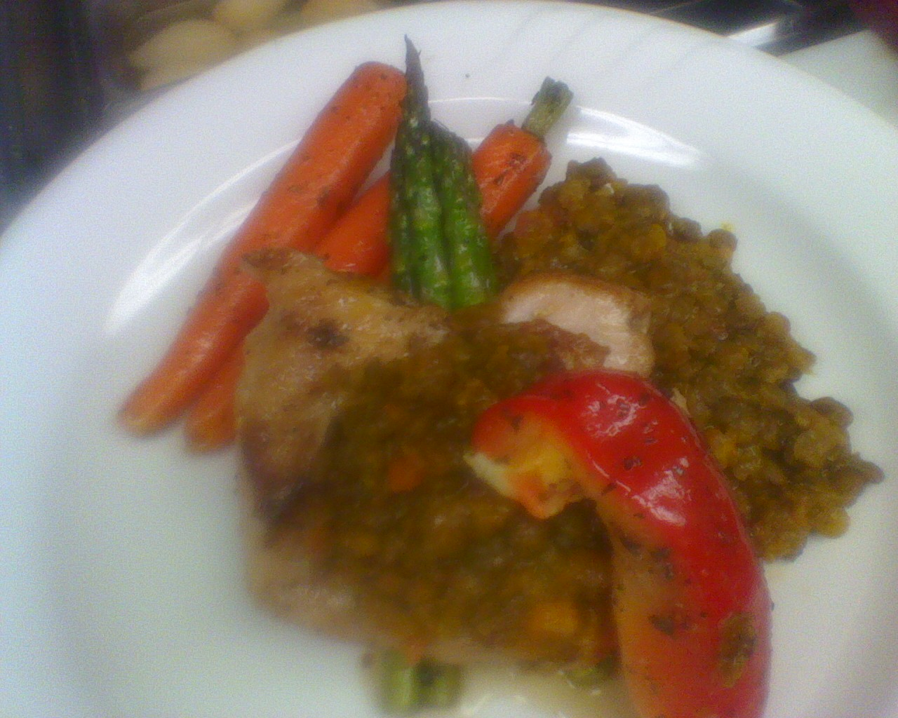 Chicken Breast With Dahl Sauce