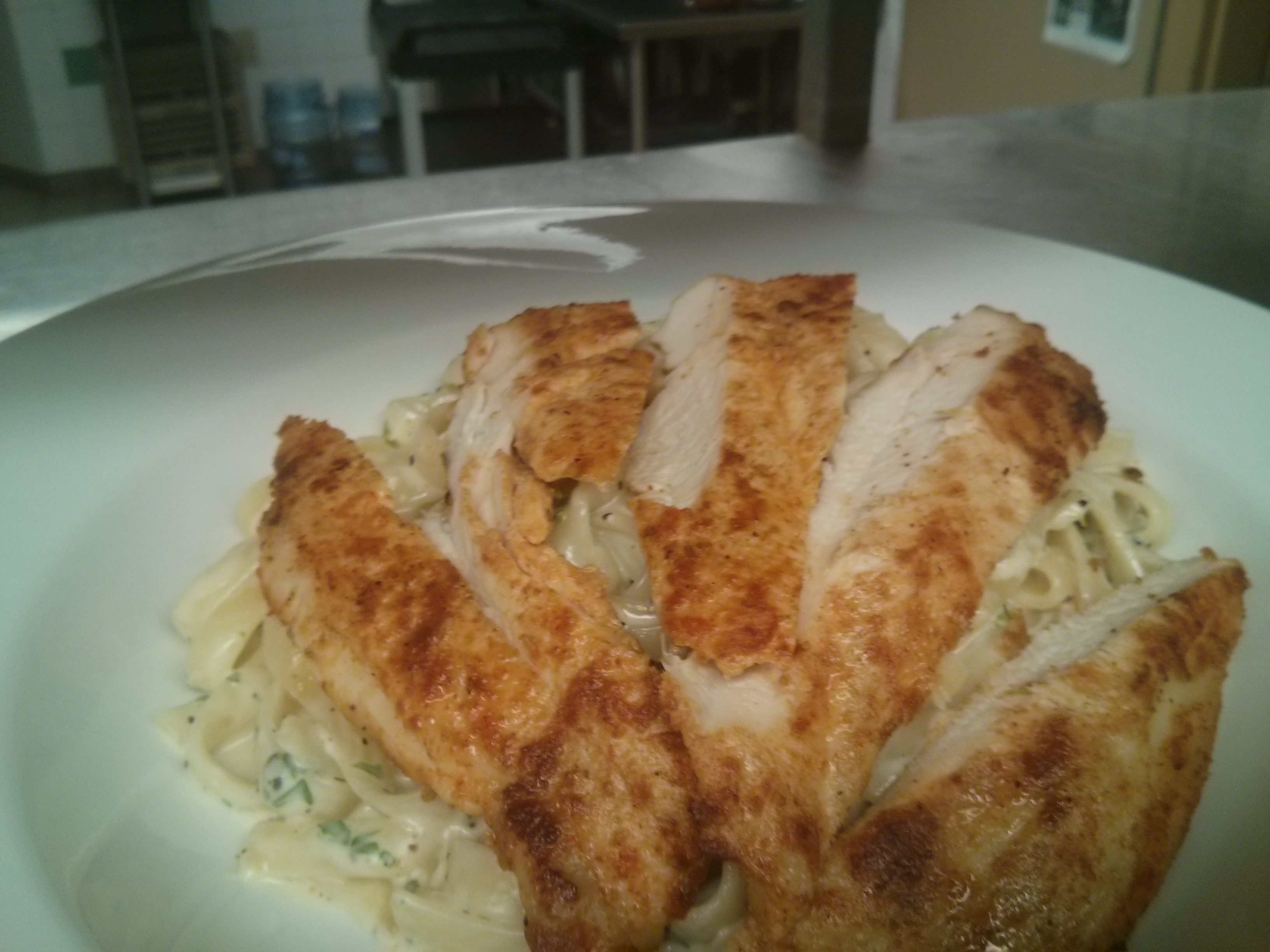 Fettuccine Alfredo With Chicken 2