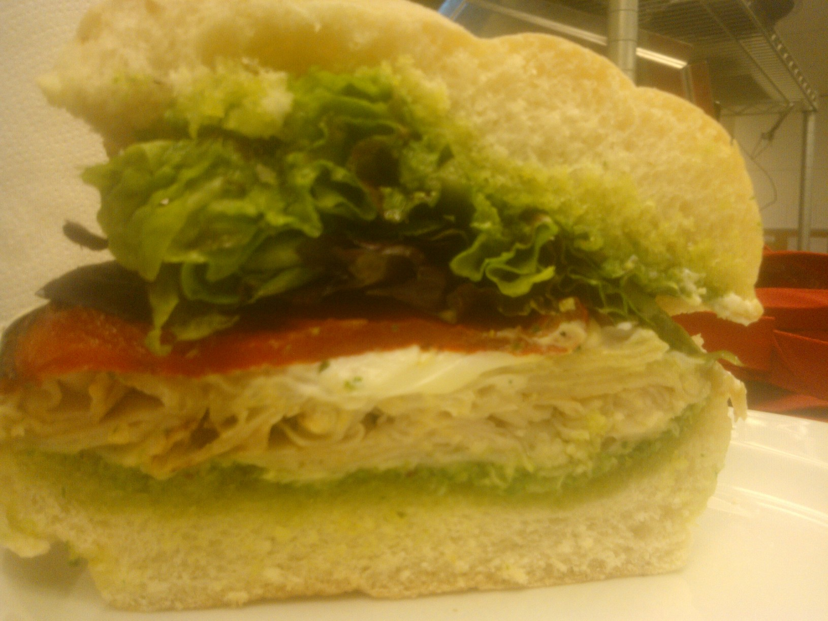 Warm Chevre And Turkey Sandwich