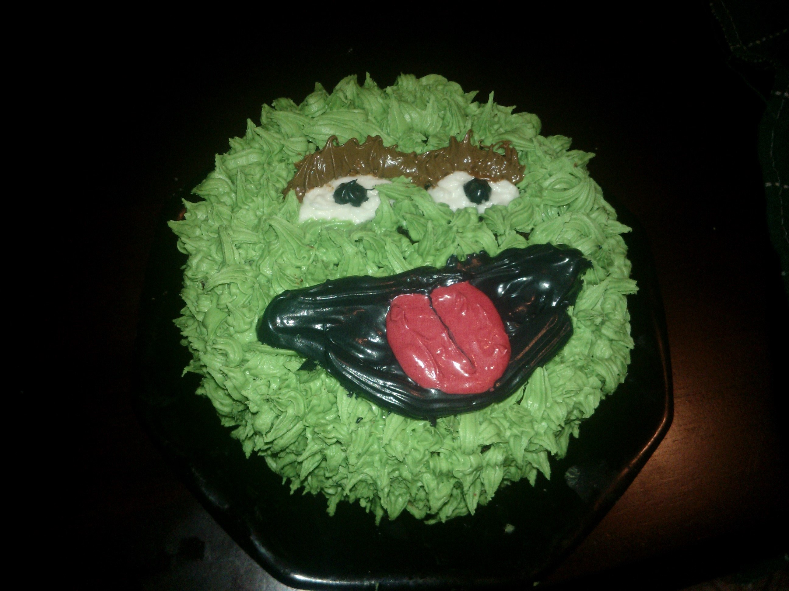 Oscar The Grouch Cake