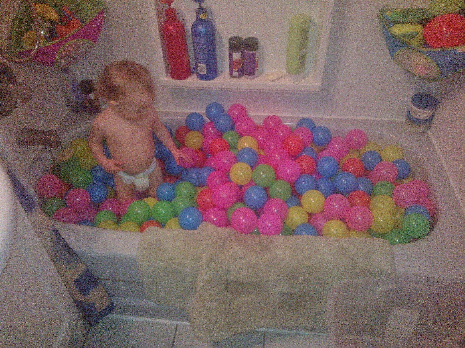 Ryder In Bathtub With His New Balls 2