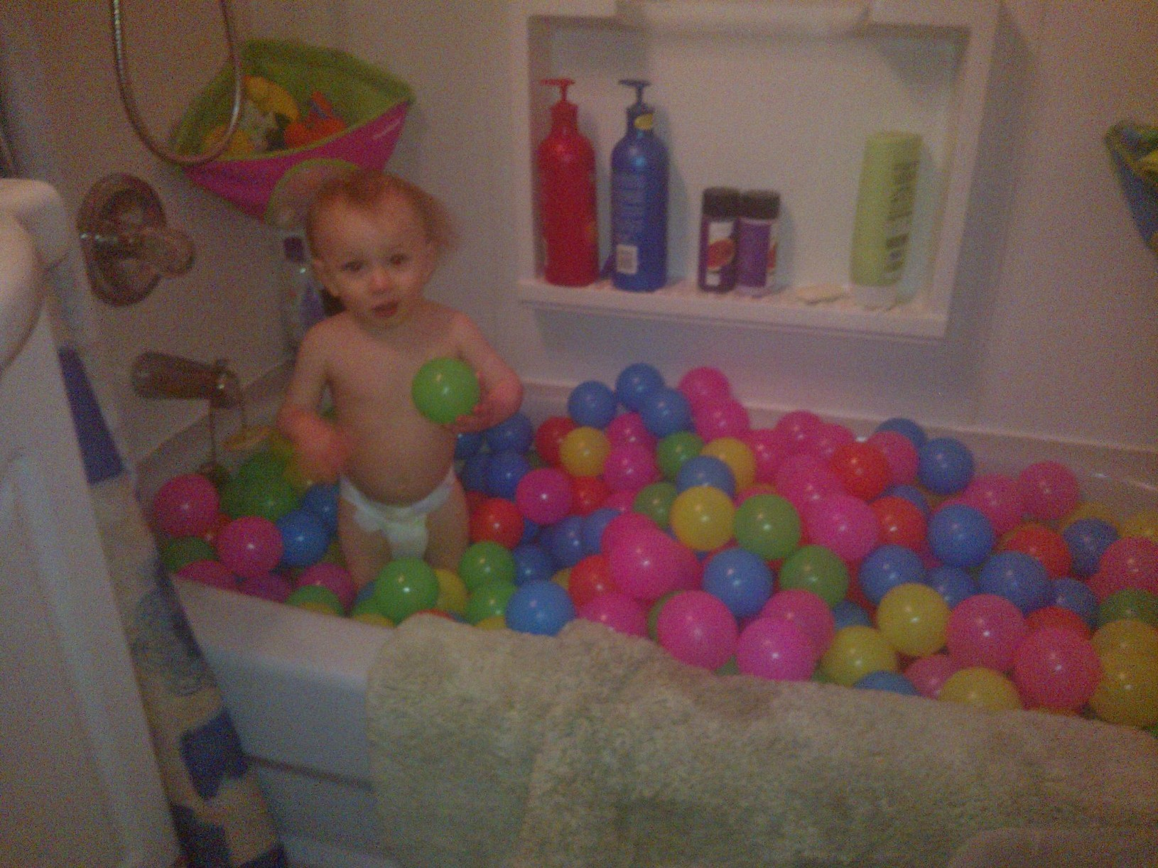 Ryder In Bathtub With His New Balls 3