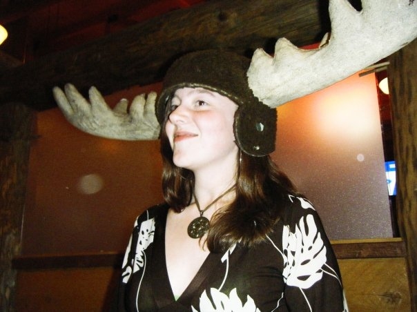 Diana Wearing Moose Hat
