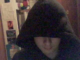 Hoodie Covering Face